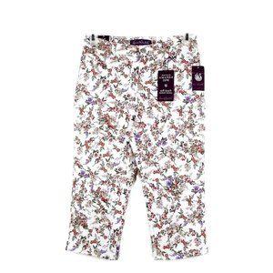Gloria Vanderbilt Capri Jeans 8P Floral  Amanda